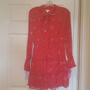 Tiered mini dress